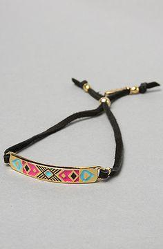 Ettika The Aztec Square Leather Bracelet :