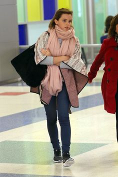 Emma Watson arriving in New York City.