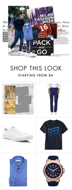 """""""Milan Fashion Week"""" by wodecai ❤ liked on Polyvore featuring Red5, Converse, Old Navy, Versace, Orlebar Brown, women's clothing, women, female, woman and misses"""