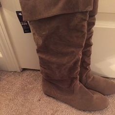 Boots Fx suede boots! Never worn! Wet Seal Shoes Combat & Moto Boots