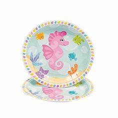 Under The Sea Girl Dessert Plates