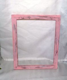 "Shabby pink distressed picture frame, 8"" x 10"", cottage chic frame, wood frame #Handmade #Cottage"