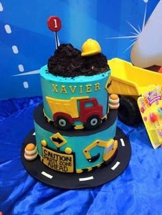 Image result for construction themed cakes