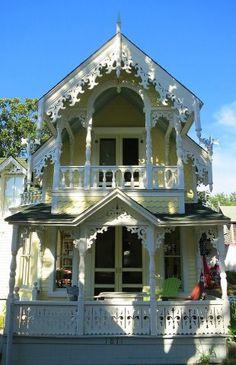 Yellow Victorian House, Martha's Vineyard, Massachussetts