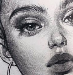Art Sketchbook Easy Love – Art World 20 Pencil Art Drawings, Realistic Drawings, Art Drawings Sketches, Easy Drawings, Chalk Drawings, Arte Sketchbook, Doodle Art Journals, Portrait Sketches, Aesthetic Drawing