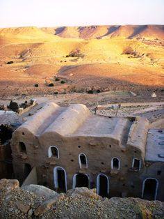 cave dwellings, hillside Berber village of Chenini,Tunisia.