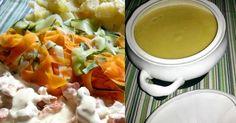 COCINANDO CON THERMOMIX MALAGA: Crema de verduras y pollo con salsa suprema (Menú completo)