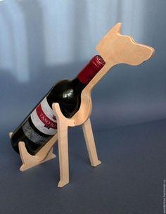 Купить или заказать Подставка для бутылки стилизованная в виде животного в интернет-магазине на Ярмарке Мастеров. Подставка для бутылки стилизованная в виде животного , материал фанера 8мм, без отделки, размер 396х256х180мм., подходит под стандартные бутылки вина, будет