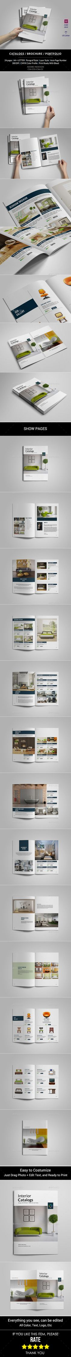 Catalogs / Brochure / Portfolio Brochure Template #brochure Download: http://graphicriver.net/item/catalogs-brochure-portfolio/11365404?ref=ksioks