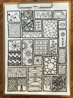 My Zentangle – Zeichnung – Home crafts Easy Doodle Art, Doodle Art Designs, Doodle Art Drawing, Zentangle Drawings, Mandala Drawing, Doodle Patterns, Cool Art Drawings, Zentangle Patterns, Mandala Art