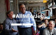 Descubrir que Jeb Bush recauda fondos vendiendo boles para guacamole y ponerse a bucear en las webs de los candidatos a la Casa Blanca es todo uno. Este es el resultado. #wordpress #política
