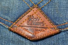 Roy Roger's Limited Edition Jeans from Italy - Long John Denim Branding, Fashion Branding, Denim Fashion, Fashion Shoes, Leather Label, Roy Rogers, Clothing Tags, Badge, Denim And Supply