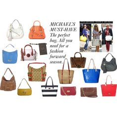 Michael Kors Handbags Spring 2015 by thebagtique on Polyvore featuring michaelkors and springhandbags