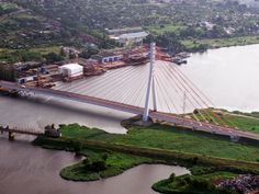 cable-stayed bridge in Gdańsk