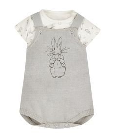 Peter Rabbit Bodysuit and Knitted Dungarees https://presentbaby.com
