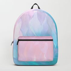 Paradise Backpack by yoyoart Cute Mini Backpacks, Colorful Backpacks, Stylish Backpacks, Girl Backpacks, Backpack Purse, Fashion Backpack, Cute School Bags, Stylish Handbags, Work Bags