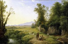Grove of Egeria, Franz Ludwig Catel Italian Water, Oil On Canvas, Canvas Prints, Water Nymphs, Ludwig, Poster Size Prints, Photo Puzzle, Photo Wall Art, Country Roads