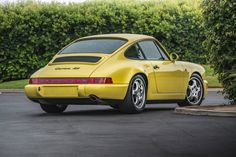 Lemon Yellow RS is preserved, simple, and perhaps the perfect road-going Porsche. Porsche 964 Rs, Porsche Carrera, New Sports Cars, Sport Cars, Pontiac Gto, Chevrolet Camaro, Porsche Classic, Classic Cars, Classic Auto