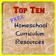 Free Homeschool Education: Top Ten Free Homeschool Curriculum Resources