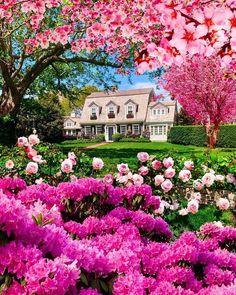 Photo by: Kiel James Patrick Beautiful Landscape Photography, Beautiful Landscapes, Beautiful Gardens, Beautiful Flowers, Beautiful Places, Cottage Style, Backyard Landscaping, Backyard Ideas, New England