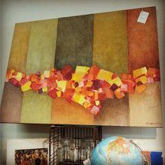 Rosemary Zwick Oil on Pieced-Canvas $295  #mercantile_m #MercantileM #Andersonville #rosemaryzwick