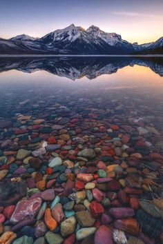 A calm sunrise at Glacier National Park Nature Aesthetic, Travel Aesthetic, Landscape Photography, Nature Photography, Travel Photography, Glacier National Park Montana, Glacier Np, Beautiful Places To Travel, Nature Pictures