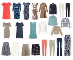 Spring capsule wardrobe - the pieces so far. Jackets, dresses, skirts and trousers http://ht.ly/JdOZz
