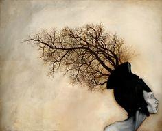 """Vascular"" by Menton3 (oil on canvas)"