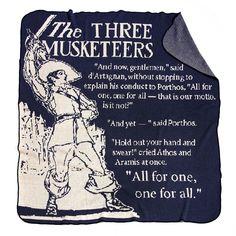 THREE MUSKETEERS STORYBOOK BLANKET | book throw, blanket | UncommonGoods