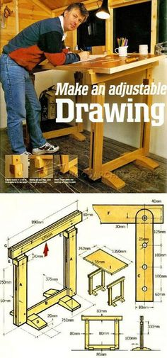 Drawing Board Plans - Woodworking Plans and Projects | WoodArchivist.com