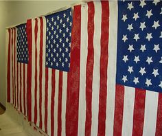 Hand painted Flags