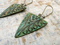 Bohemian earrings Geometric earrings  mixed by Gypsymoondesigns