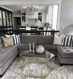 Fine 28 Stunning Black And White Living Room Design Ideas Decor With Grey Couch