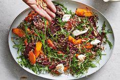 Kijk wat een lekker recept ik heb gevonden op Allerhande! Lentemaaltijdsalade van quinoa en biet