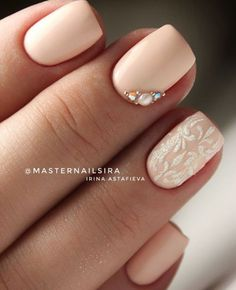 Wedding nail art – Atypical manicure V … Simple Wedding Nails, Wedding Nails For Bride, Bride Nails, Wedding Nails Design, Simple Nails, Wedding Makeup, Sparkle Wedding, Wedding Art, Wedding White