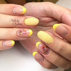 #nails #nailart #yellow #frenchnails