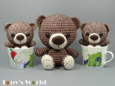 MARCELL Teddy Crochet pattern English and Hungarian