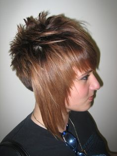 Hair by Donnie Zawicki at Jennifer and Company, 9420 Mentor Avenue Mentor , OH , 44060 Hairstyle Ideas, Hair Ideas, Cool Hairstyles, Funky Short Hair, Short Hair Styles, Mentor Ohio, Beautiful Haircuts, Extreme Hair, Lisa S