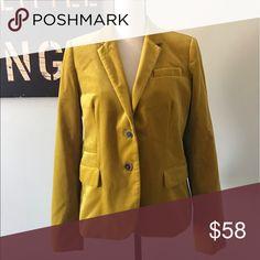 J. Crew Schoolboy Blazer Size 12. 100 % Cotton. Lined. Color: Chartreuse. Brown marbles buttons. J. Crew Jackets & Coats Blazers
