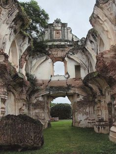 Ruins at Antigua Guatemala. From the Santa Martha's earthquake in 1773.