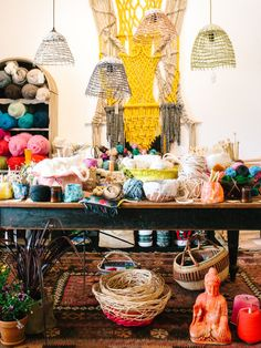 Raw Craft, a brand new craft supplies store in Robertson, NSW, opened by textile artist Natalie Miller and weaver / basket maker Harriet Goodall.  Photo - Rachel Kara for thedesignfiles.net