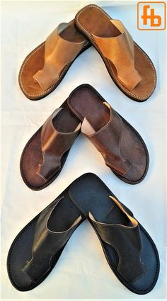 Men's Sandal, Leather Upper, Featuring my Signature 'Triple Rubber Composite Sole' for Comfort, Durability and Safety. Leather Slippers For Men, Mens Slippers, Leather Upper, Black Leather, Robert Johnson, African Dresses Men, Leather Sandals, Men Sandals, Shoe Pattern
