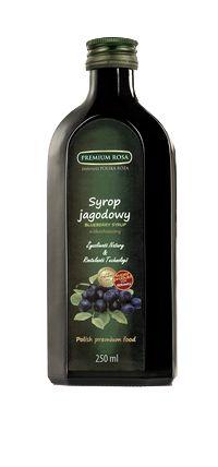 Syrop jagodowy. Blueberry syrup. Pachnący, naturalny syrop, taki sam jak z domowej spiżarni. Tworzony naturalną metodą zachował swój wyjątkowy aromat. Wspaniały dodatek do deserów, zwłaszcza budyniów i kaszek, jak również jako napój po rozcieńczeniu. Powszechnie stosowany przy przeziębieniach. Cena: 8,00 zł #Blueberry #Jagody #Syrop #Syrup