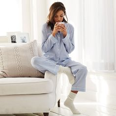 mmm, in lounge wear with coffee