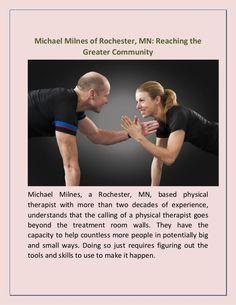 Michael Milnes of #Rochester, #MN: Reaching the Greater #Community https://www.slideshare.net/michaelmilnesrochestermn/michael-milnes-of-rochester-mn-reaching-the-greater-community