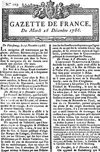 La Gazette de France par Clémence & Morgan