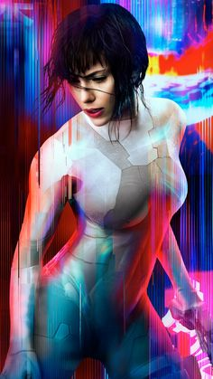 Ghost in the Shell - In the near future, Major (Scarlett Johansson) is the first of her kind: A human saved from a terrible crash, who is. Hd Movies Online, New Movies, Movies To Watch, Good Movies, Upcoming Movies, Ghost World, Cyberpunk, Scarlett Johansson Movies, Film Science Fiction