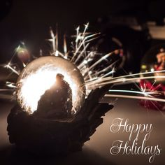 Our 10 inch sparklers give this holiday card a sparkling feeling. Happy Holidays from www.WeddingSparklersUSA.com