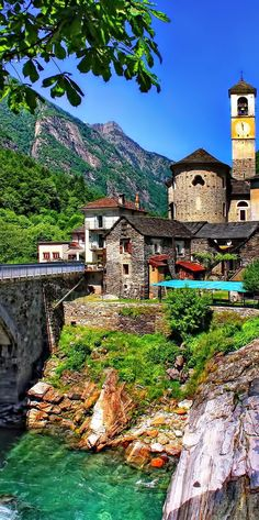 The stunning village of Lavertezzo ~ in the Ticino region of Switzerland.