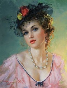 Portrait of a girl Classic Paintings, Beautiful Paintings, L'art Du Portrait, Portraits, Vintage Girls, Vintage Art, Vintage Woman, Painted Ladies, Victorian Art